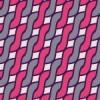 グレーとピンクが絡むアラン模様パターン