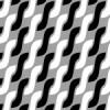 白黒のアラン模様パターン