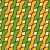 レトロ配色のアラン模様パターン