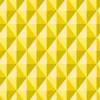 立体的に見える黄色の菱形パターン