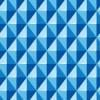 立体的に見える青色の菱形パターン
