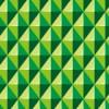 立体的に見える緑色の菱形パターン