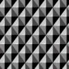 立体的に見える黒色の菱形パターン