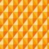 立体的に見えるオレンジ色の菱形パターン