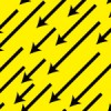 無数の矢印が斜めに降り注ぐパターン