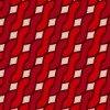 赤配色のアラン模様パターン