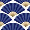 扇のイラスト和風パターン