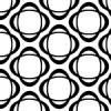 楕円形が組み合わさったモノクロパターン