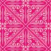 鮮やかなピンク色のアジアンパターン