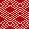 赤基調の松皮菱和柄パターン