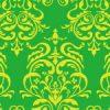 緑色のダマスク柄パターン