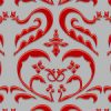 赤色のハートを模したダマスク柄パターン