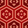 赤色の亀甲柄パターン