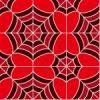 赤色の蜘蛛の巣のような幾何学模様パターン