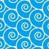 波のように渦が並ぶパターン