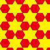 六角形がキレイに並ぶパターン
