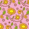 植物のイラストのパターン
