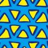 黄色のラフな三角形が並ぶパターン