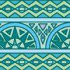 青色基調のエスニック風パターン