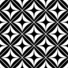 モノクロの正方形とダイア形パターン