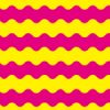 黄色とピンクのうねうねしたボーダーパターン