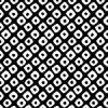 白黒の鹿の子柄パターン