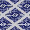 紺色の菱形鶴の和柄パターン