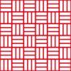 赤と白の網代文様 和柄パターン