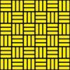 黒と黄色の網代文様 和柄パターン