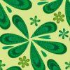 緑色のポップなペイズリー柄パターン