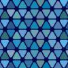 角丸の青い三角形が並ぶパターン