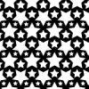 白黒のスターが並ぶパターン