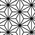 麻の葉文様のシームレスパターン