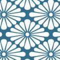 菊菱のシームレス和柄パターン
