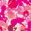 様々なピンク系のインクが飛び散るパターン