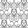 蔦のような植物が絡み合うアラベスク柄パターン