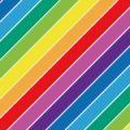レインボーに輝く虹色の斜線ストライプパターン