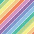 パステルカラーの虹模様の斜線パターン