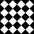 白黒のハーリキンチェック柄パターン