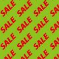 緑色の背景に赤色のSALEの文字が並ぶパターン