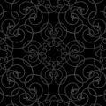 黒基調のクールなアラベスク柄パターン