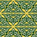 緑と黄色のエスニック調パターン