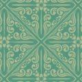 緑色のバリテイストのアジアン系パターン