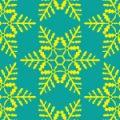 緑色の雪の結晶イラスト幾何学パターン