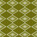 深い緑色の菱型のパターン素材