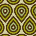 緑と茶色のナチュラルな図形パターン
