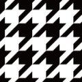白黒のハウンドトゥース(千鳥格子)パターン