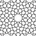 幾何学図形が組み合わさるアラベスクパターン