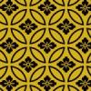 黒と金の七宝文様パターン