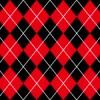 赤と黒のアーガイルチェック柄パターン